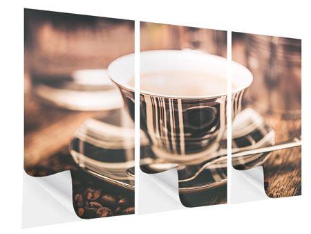 Klebeposter 3-teilig Der Kaffee ist fertig