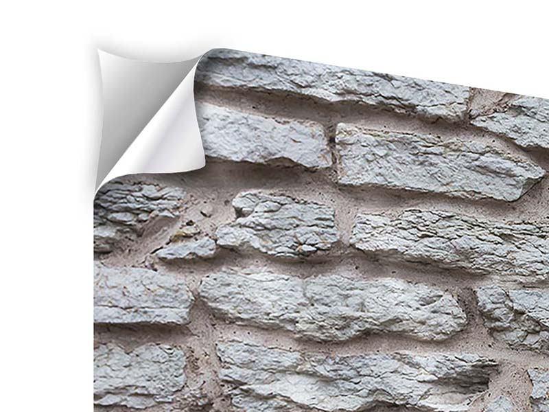 Klebeposter 3-teilig Steinmauer