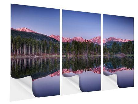Klebeposter 3-teilig Sprague Lake-Rocky Mountains