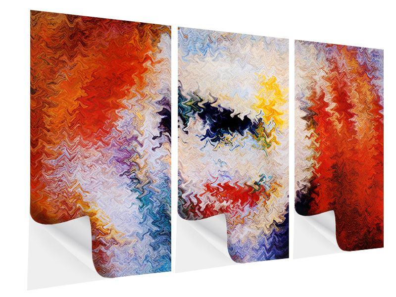 Klebeposter 3-teilig Wandmalerei