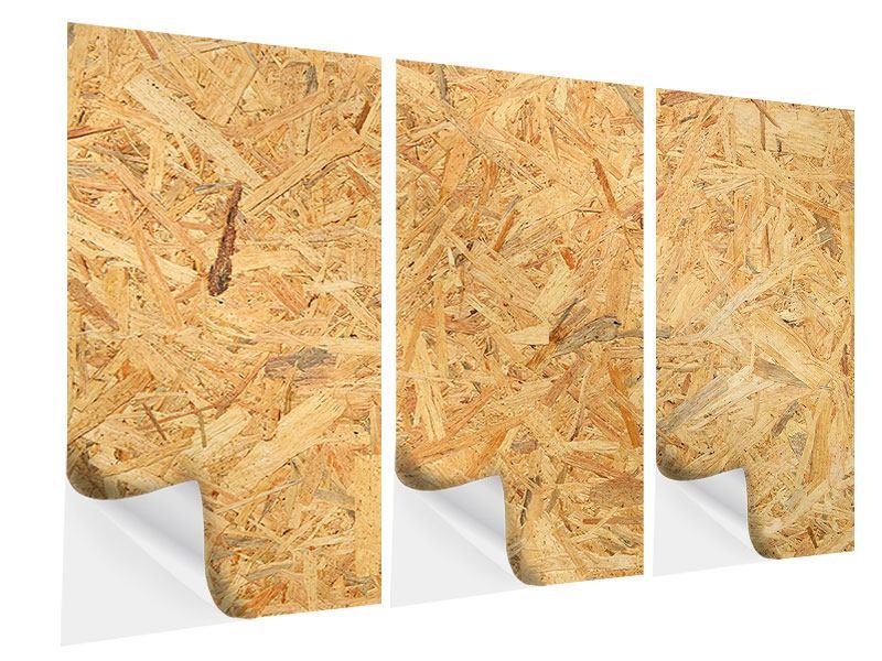 Klebeposter 3-teilig Gepresstes Holz