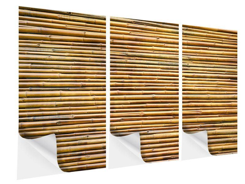 Klebeposter 3-teilig Bambus