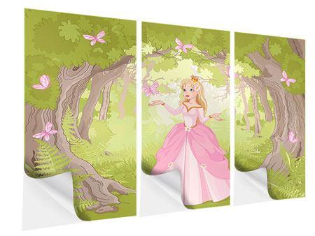 Klebeposter 3-teilig Princess
