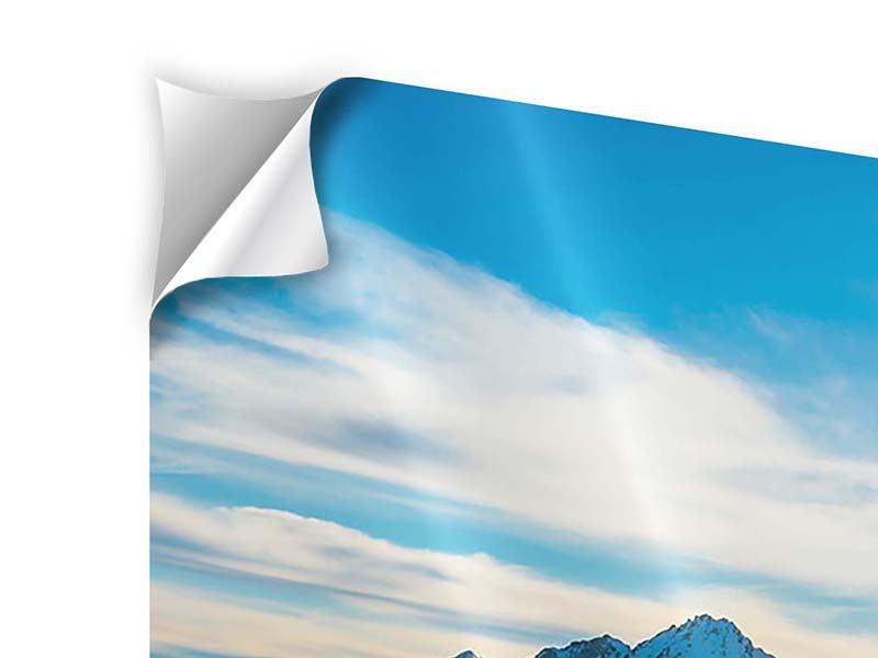 Klebeposter 3-teilig Ein Wintermärchen in den Bergen
