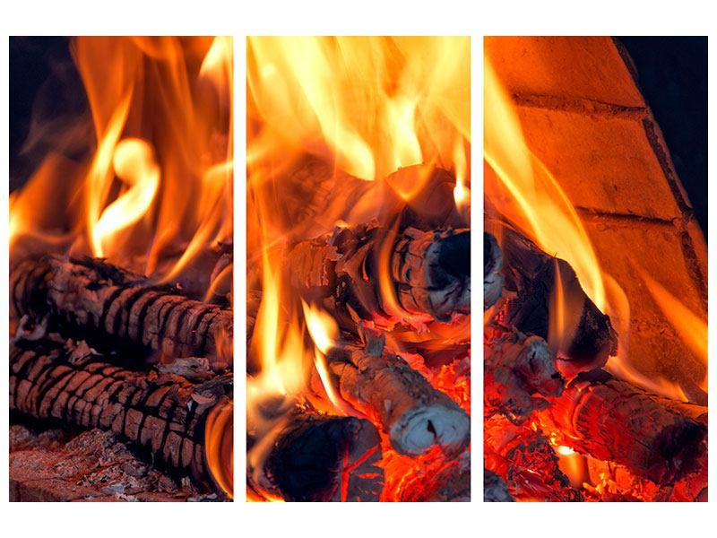 Klebeposter 3-teilig Lagerfeuer