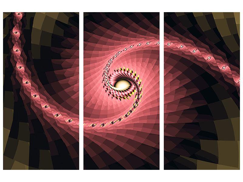 Klebeposter 3-teilig Abstrakte Windungen
