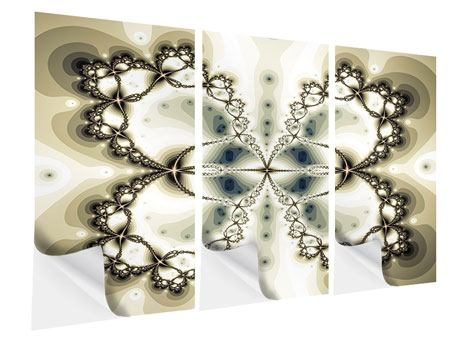 Klebeposter 3-teilig Abstrakter Schmetterling