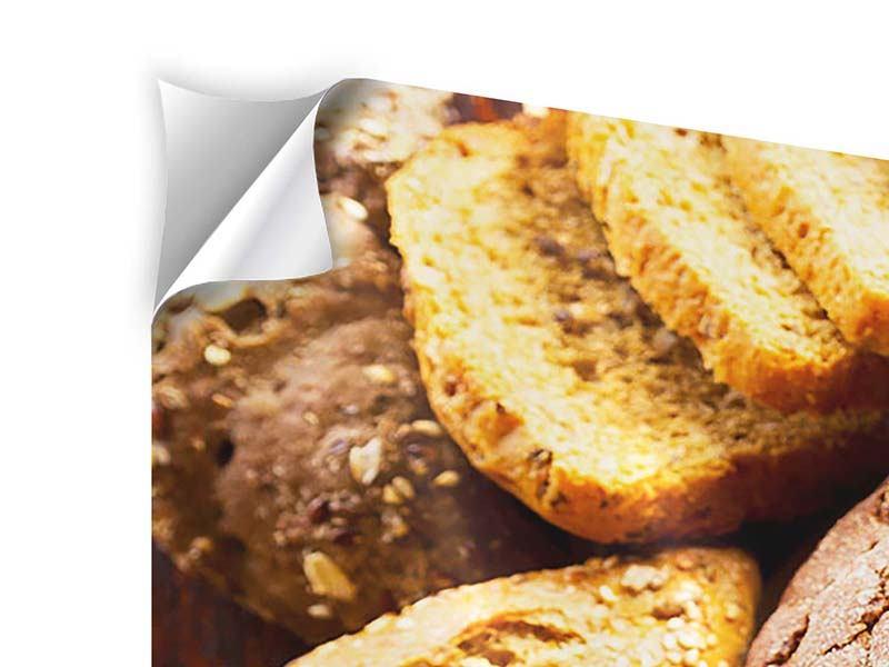 Klebeposter 3-teilig Brotsortiment