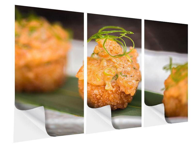 Klebeposter 3-teilig Asiatische Küche