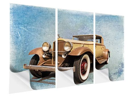 Klebeposter 3-teilig Nostalgischer Oldtimer