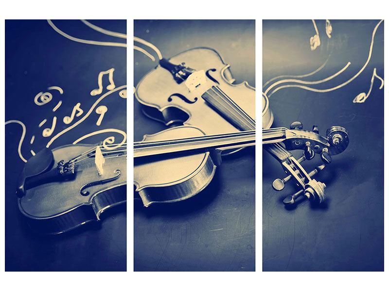 Klebeposter 3-teilig Geigen
