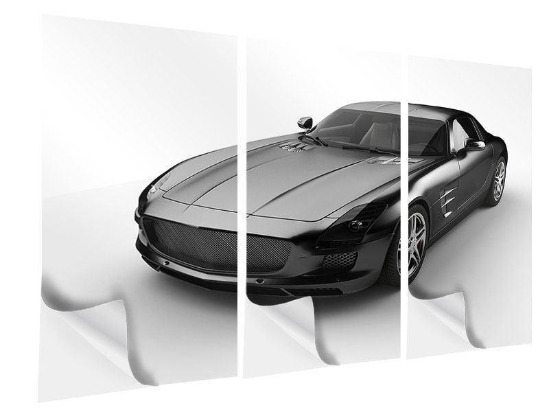 Klebeposter 3-teilig 007 Auto