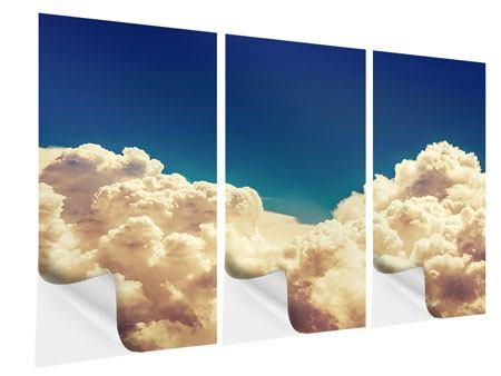 Klebeposter 3-teilig Himmelswolken