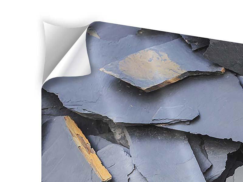 Klebeposter 3-teilig Schieferplatten