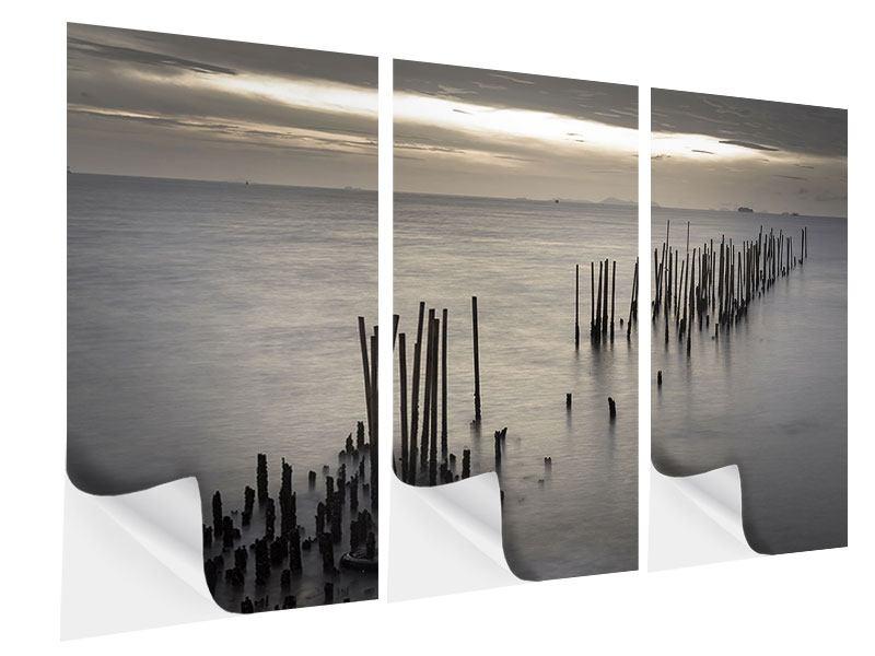 Klebeposter 3-teilig Das Meer und die Träne