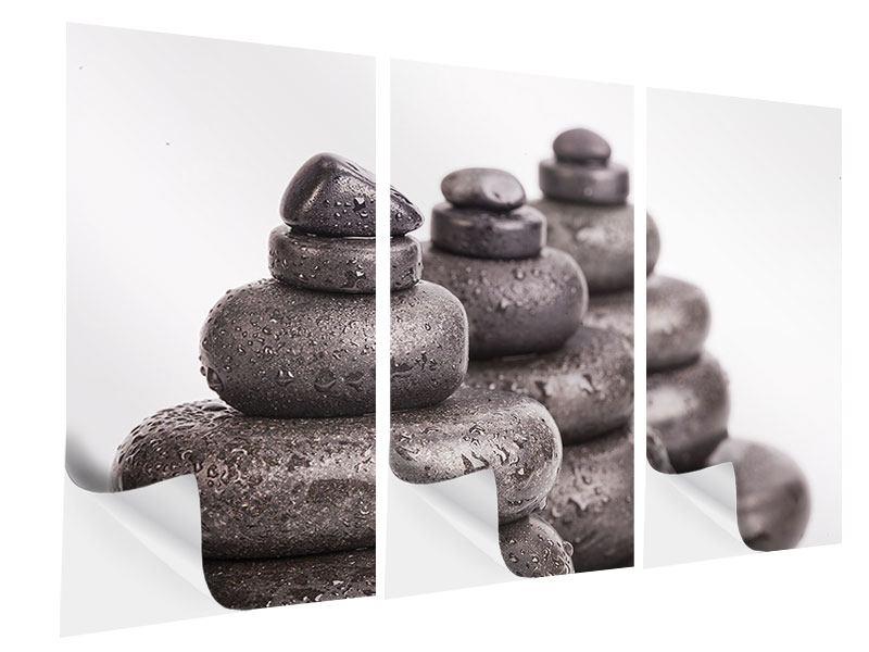 Klebeposter 3-teilig Die Kraft der Steine