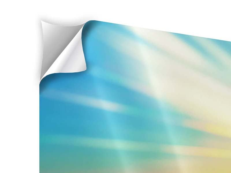 Klebeposter 3-teilig Sonnenuntergang über den Wolken