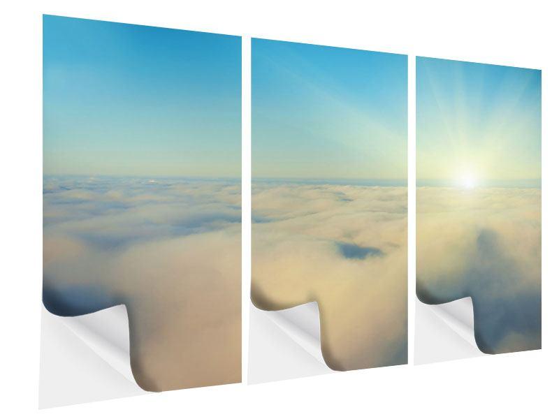 Klebeposter 3-teilig Dämmerung über den Wolken