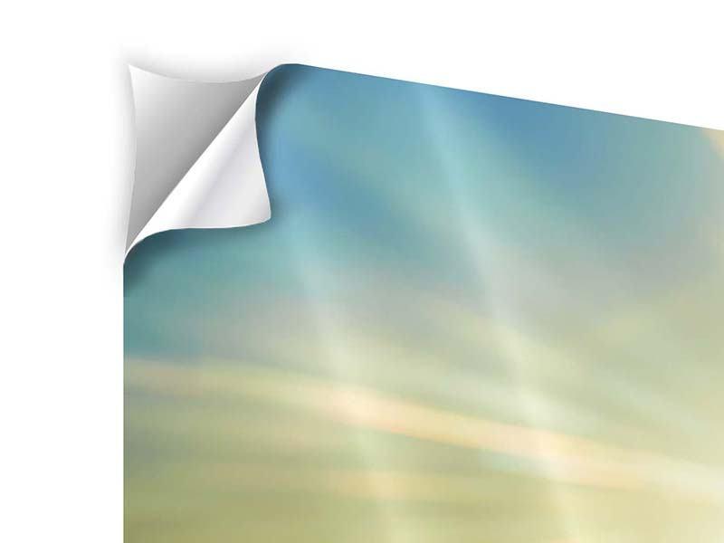 Klebeposter 3-teilig Sonnenaufgang über den Wolken