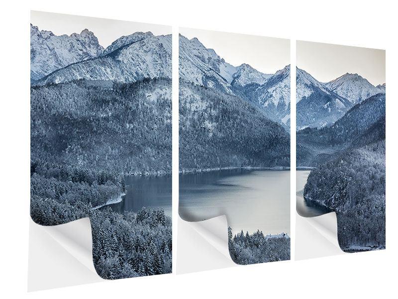 Klebeposter 3-teilig Schwarzweissfotografie Berge