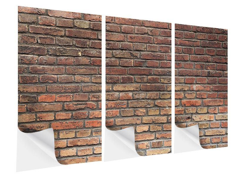 Klebeposter 3-teilig Brick Wall