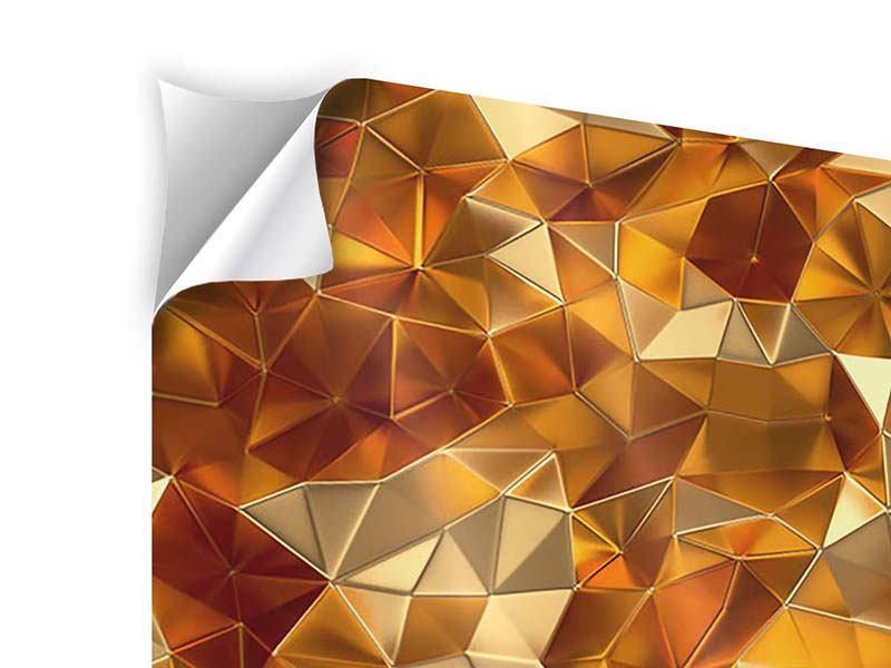 Klebeposter 3-teilig 3D-Bernsteine