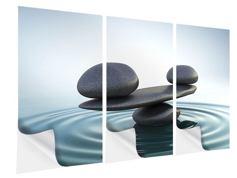 Klebeposter 3-teilig Steinbalance