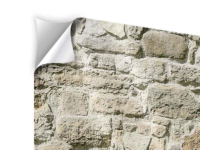 Klebeposter 3-teilig Naturmauer