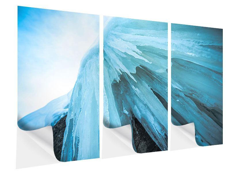 Klebeposter 3-teilig Die Eiswand