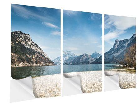 Klebeposter 3-teilig Der idyllische Bergsee