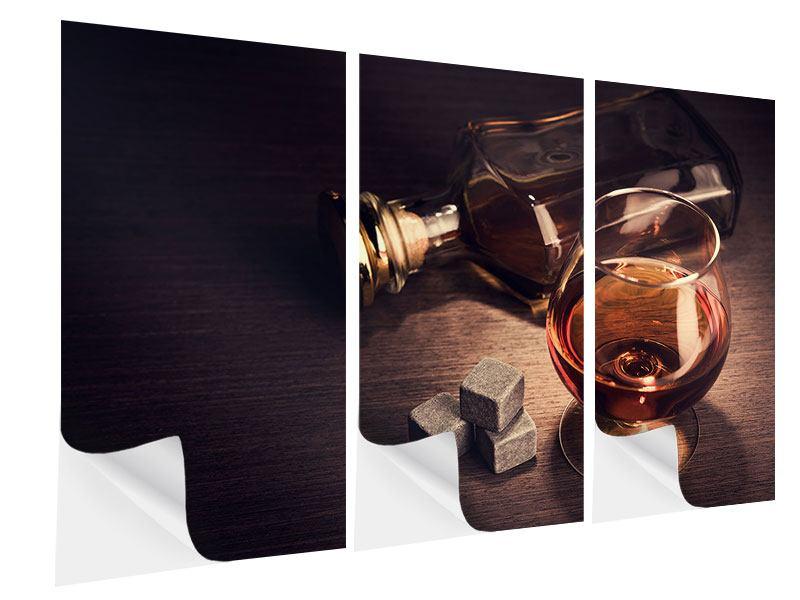Klebeposter 3-teilig Ein Glas Cognac