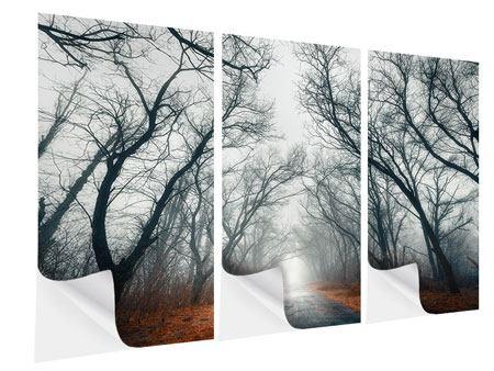Klebeposter 3-teilig Mysteriöse Stimmung im Wald
