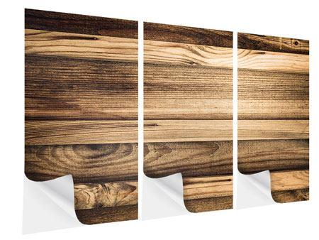 Klebeposter 3-teilig Holztrend