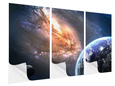 Klebeposter 3-teilig Universus