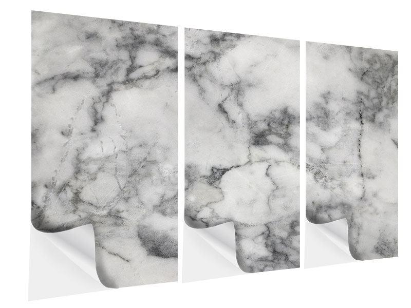 Klebeposter 3-teilig Klassischer Marmor