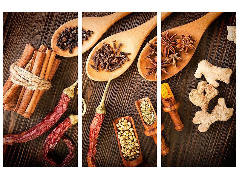 Klebeposter 3-teilig Orientalische Gewürze