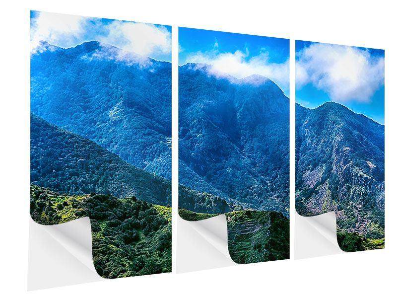 Klebeposter 3-teilig Die Berglandschaft