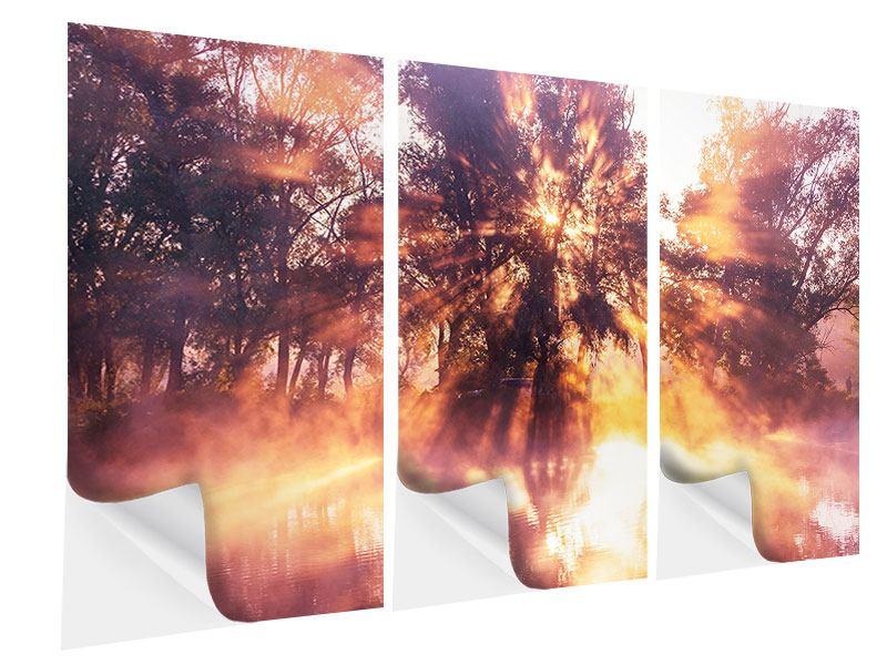 Klebeposter 3-teilig Die Waldspiegelung