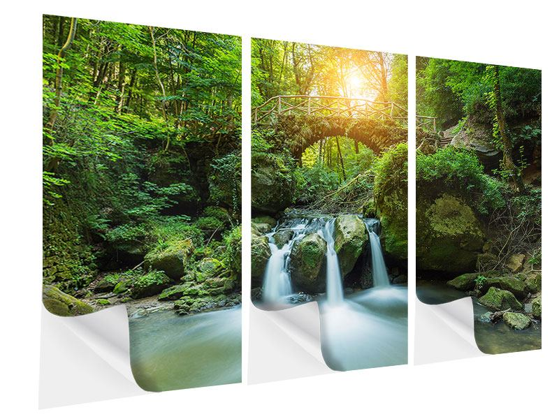 Klebeposter 3-teilig Wasserspiegelungen
