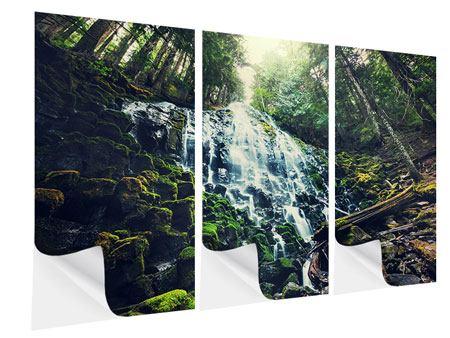Klebeposter 3-teilig Feng Shui & Wasserfall