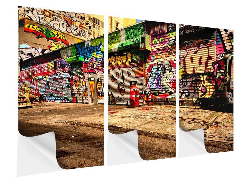 Klebeposter 3-teilig NY Graffiti