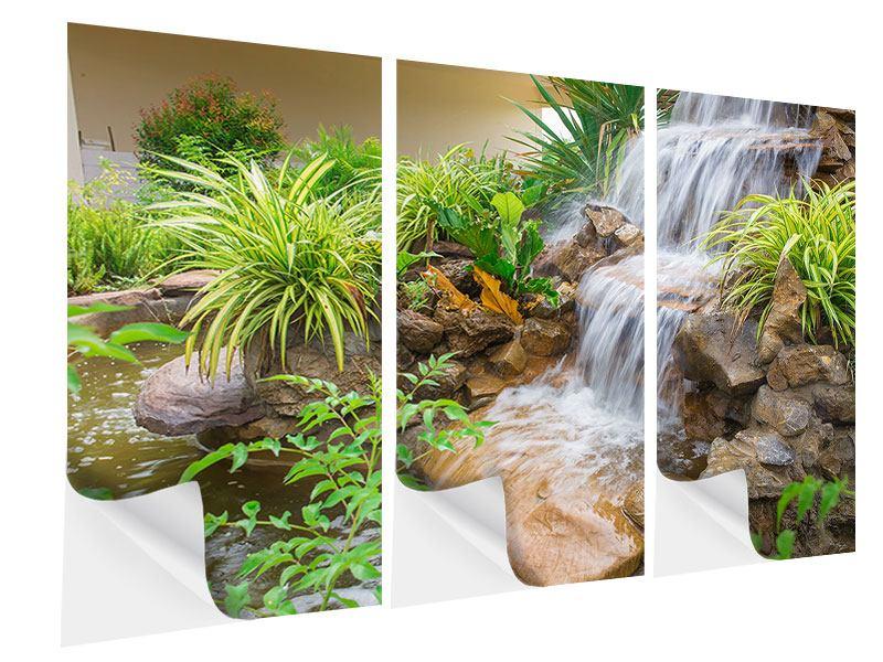 Klebeposter 3-teilig Paradiesgarten