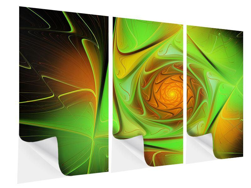 Klebeposter 3-teilig Abstraktionen