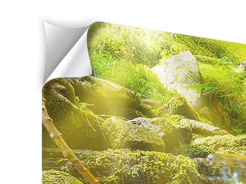 Klebeposter 3-teilig Schönheit des fallenden Wassers
