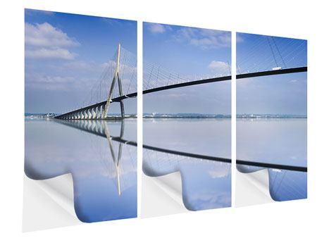 Klebeposter 3-teilig Die Pont de Normandie