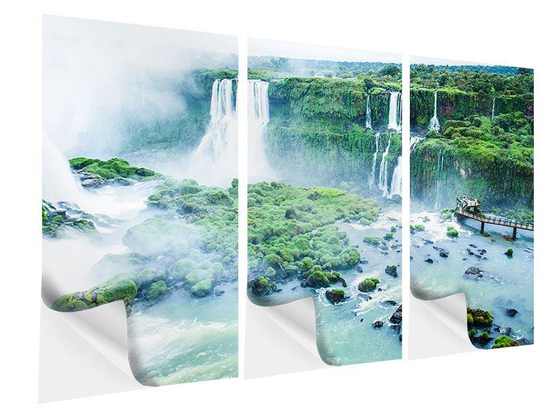 Klebeposter 3-teilig Wasserfälle