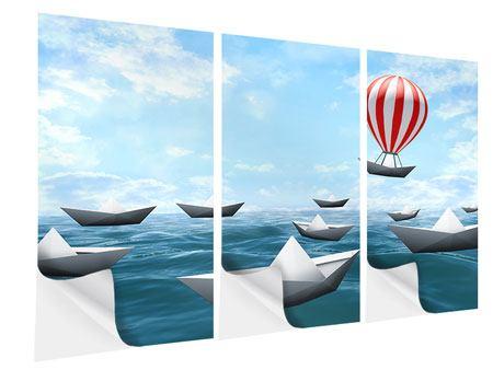 Klebeposter 3-teilig Schiffchen