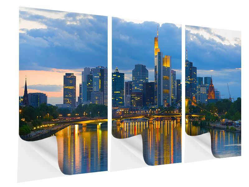 Klebeposter 3-teilig Skyline Frankfurt am Main