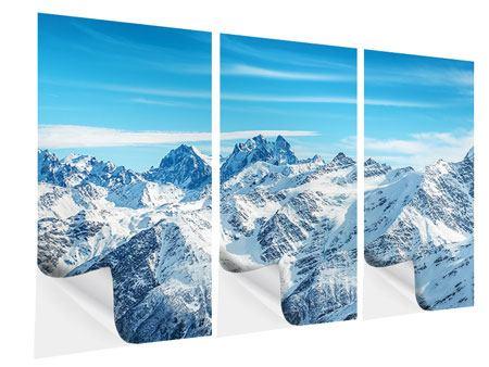 Klebeposter 3-teilig Alpenpanorama