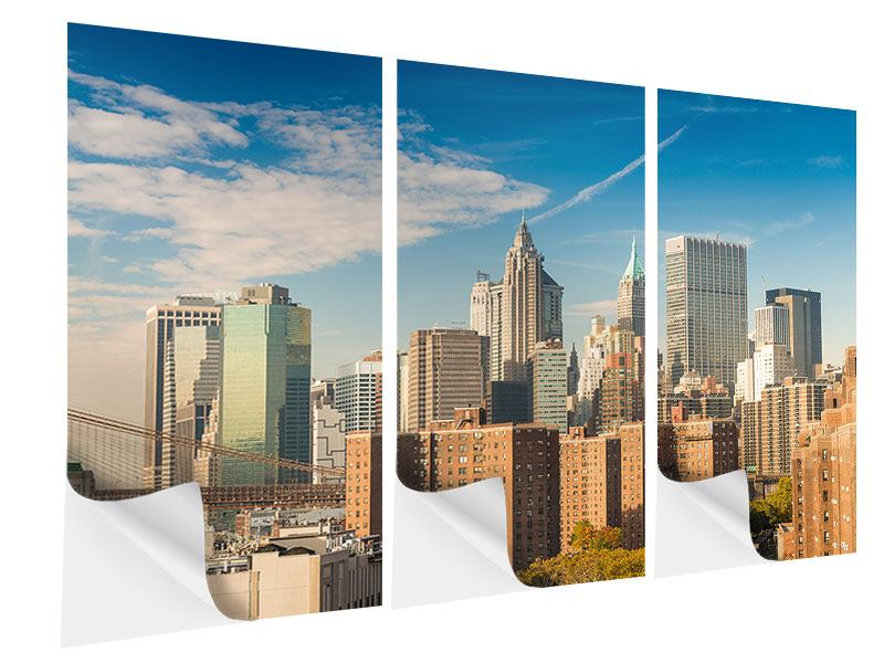 Klebeposter 3-teilig Skyline New York